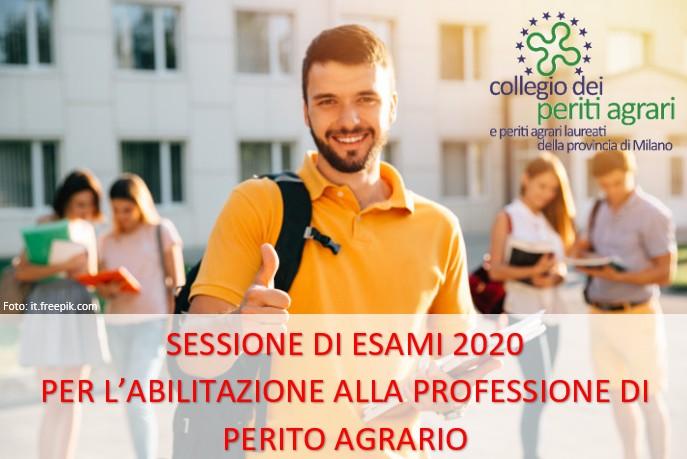 Sessione esami abilitazione Perito Agrario 2020